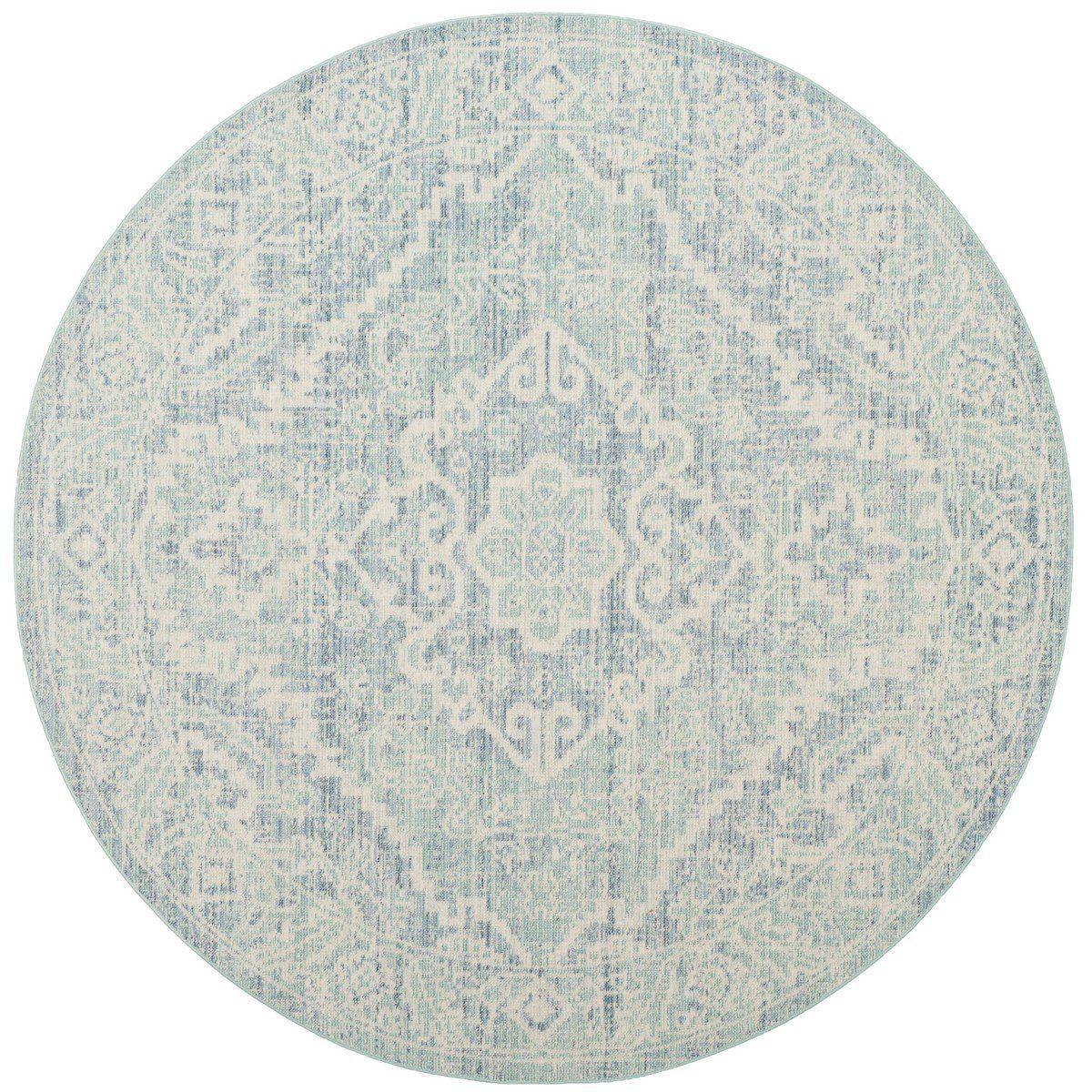 Seafoam Blue Round Area Rugs