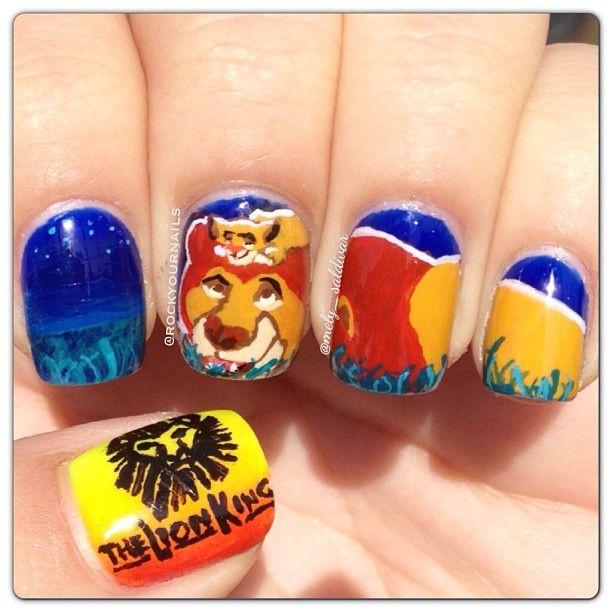 full lion mani nails