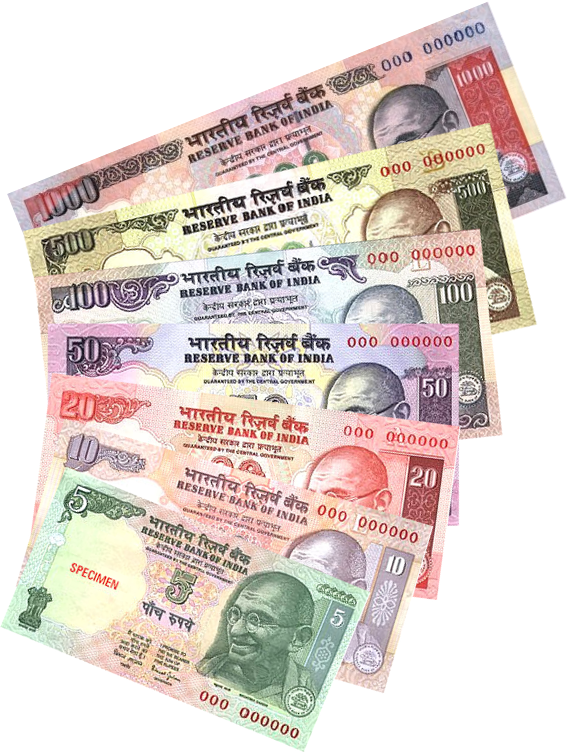 Economics This Is Indian Ru The Currency Of India They Re Five Coins And Seven Banknotes 1 Equal To 0 016 Cents In United States