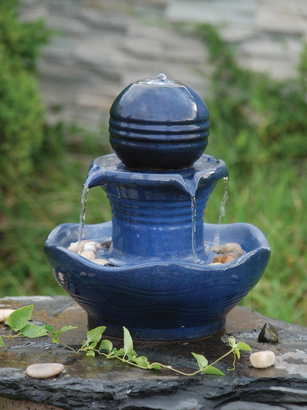 The Imelda Table Top Is A Beautiful Ceramic Fully Self Contained Water  Feature With The