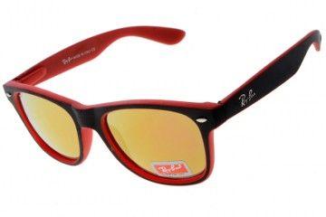 online shopping sunglasses n2k8  New Ray Ban rb 300-8 Wayfarer Orange/Red Black Sunglasses Online Shopping