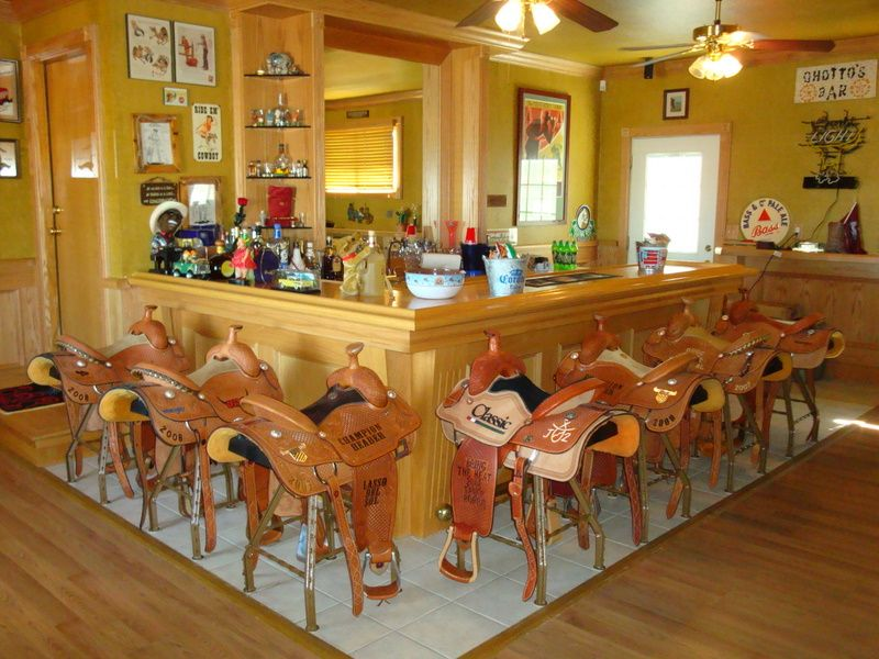 Western Rooms Saddle Bar Stools