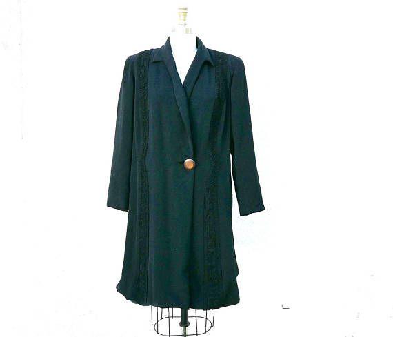 Vintage Oversized Mid-length Coat Cpczk3