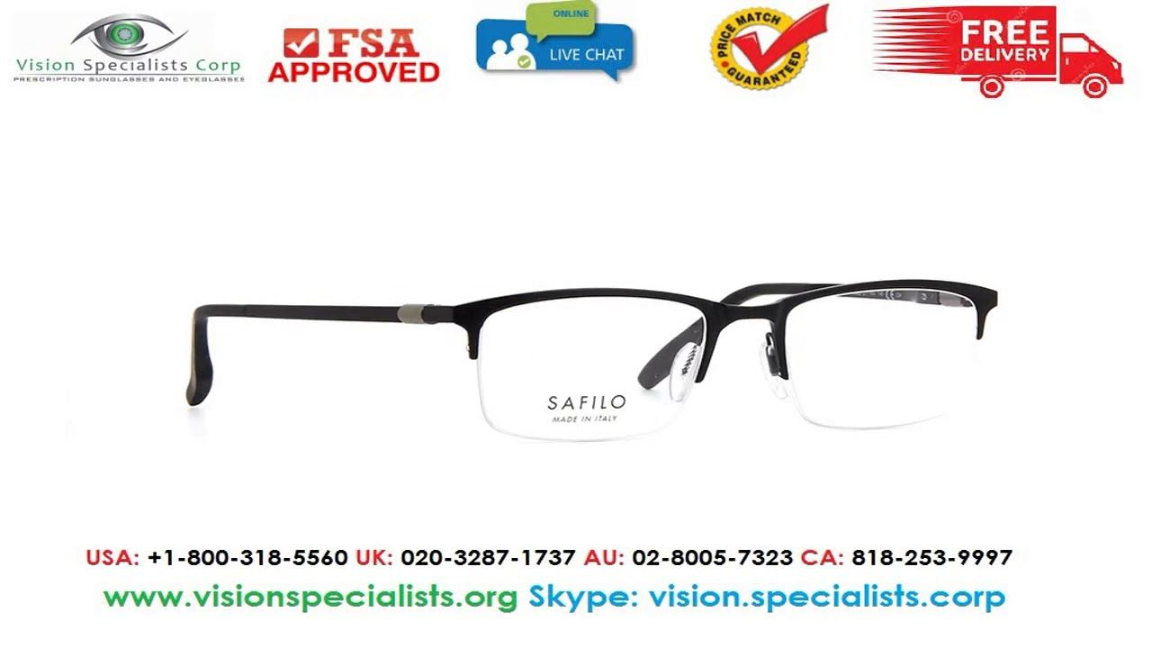 Eyeglasses New Safilo Filo 1 0003 Matte Black