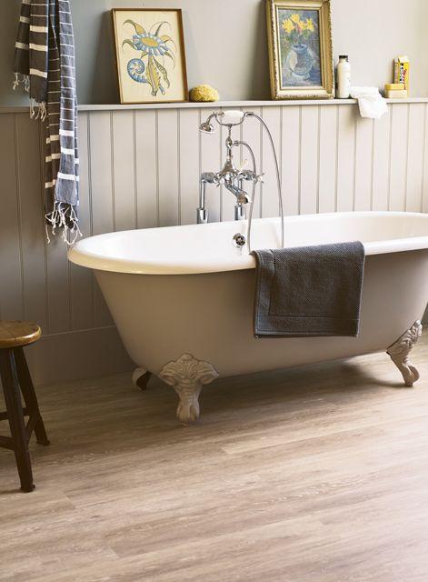 Bathroom floor - Retreat Summer House vinyl - fired earth