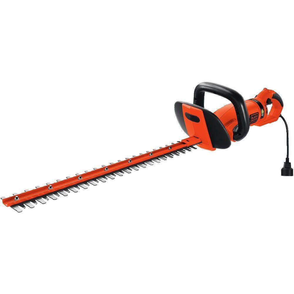 Black Decker Hh2455 3 3 Amp Hedgehog Hedge Trimmer With Rotating Handle And Dual Blade Action Blades 24 Hedge Trimmers Black Decker Best Hedge Trimmer