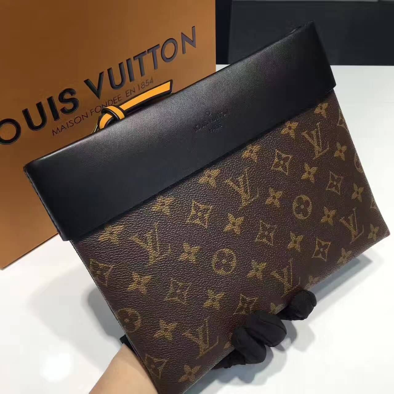 a108e0fb565f Louis Vuitton Pochette Tuileries Clutch Bag Black 2017