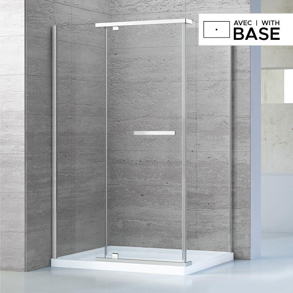 42 X 34 Shower Kit With Door And Left Side Base Corner Shower