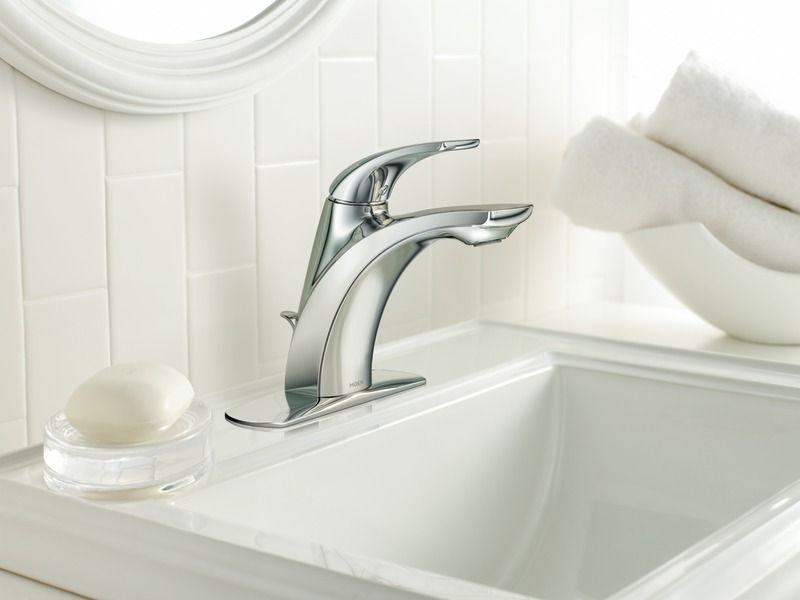 Zarina Chrome one-handled high arc bathroom faucet by Moen ...