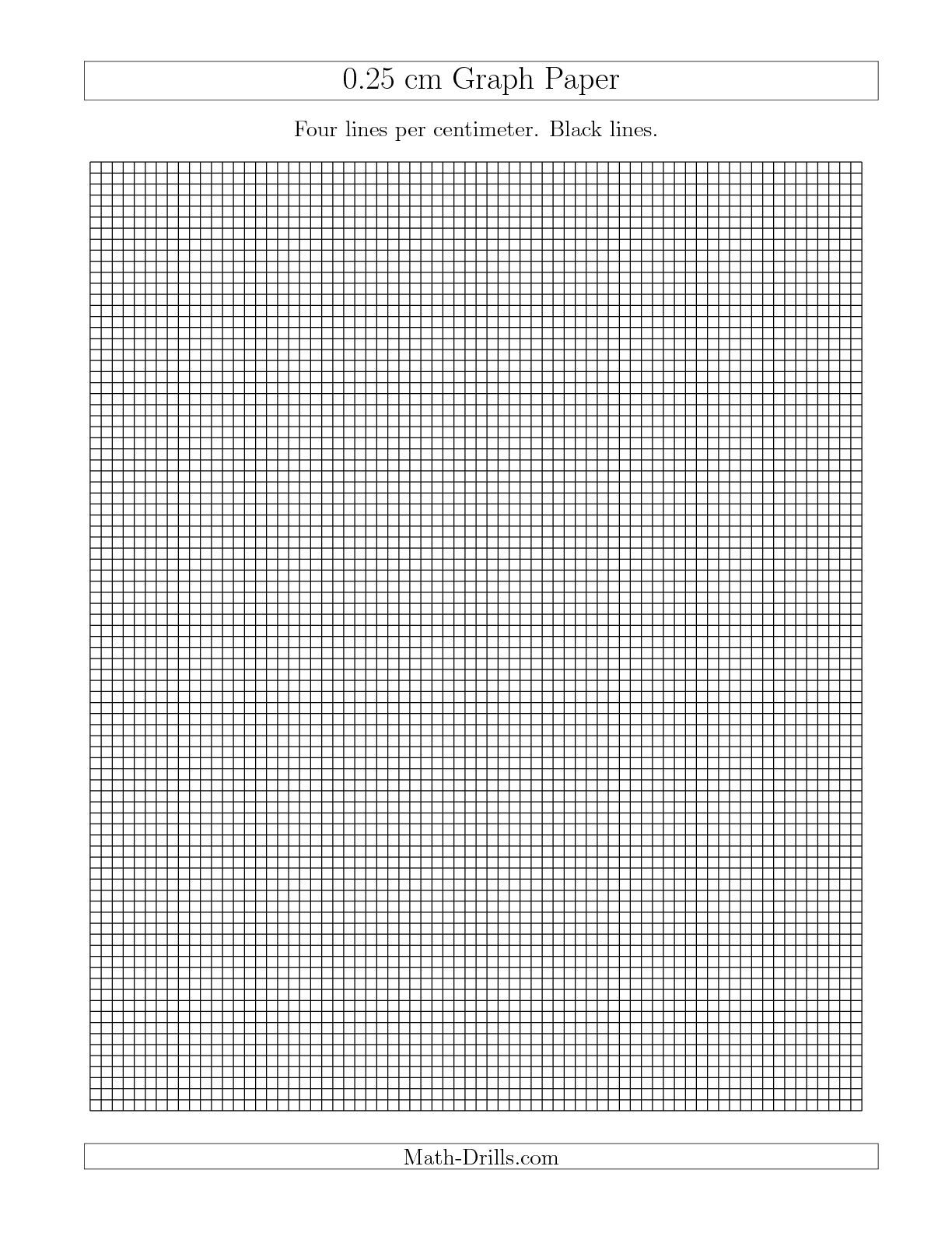 The 0 25 Cm Graph Paper With Black Lines A