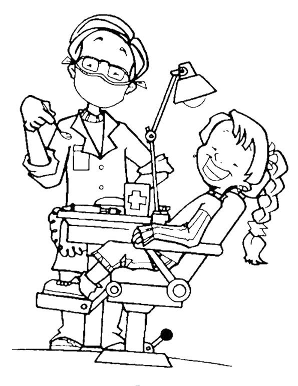 dentist coloring pages An Attractive Dentist Coloring Pages | February | Coloring pages  dentist coloring pages