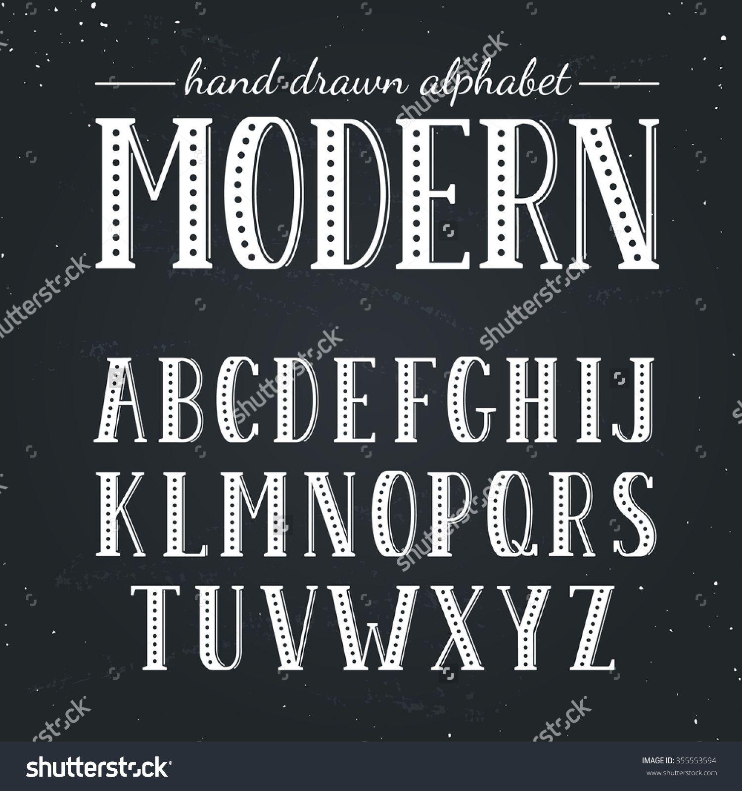 chalkboard fonts alphabet