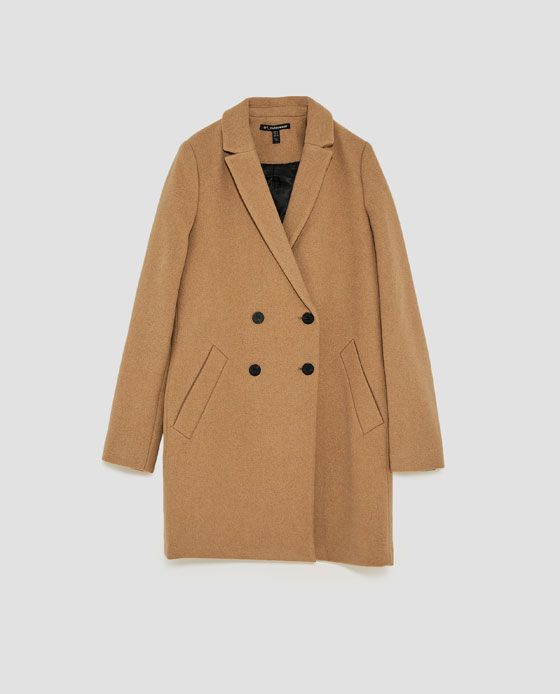 Image 8 of TOMBOY COAT from Zara | Abrigos, Abrigo beige