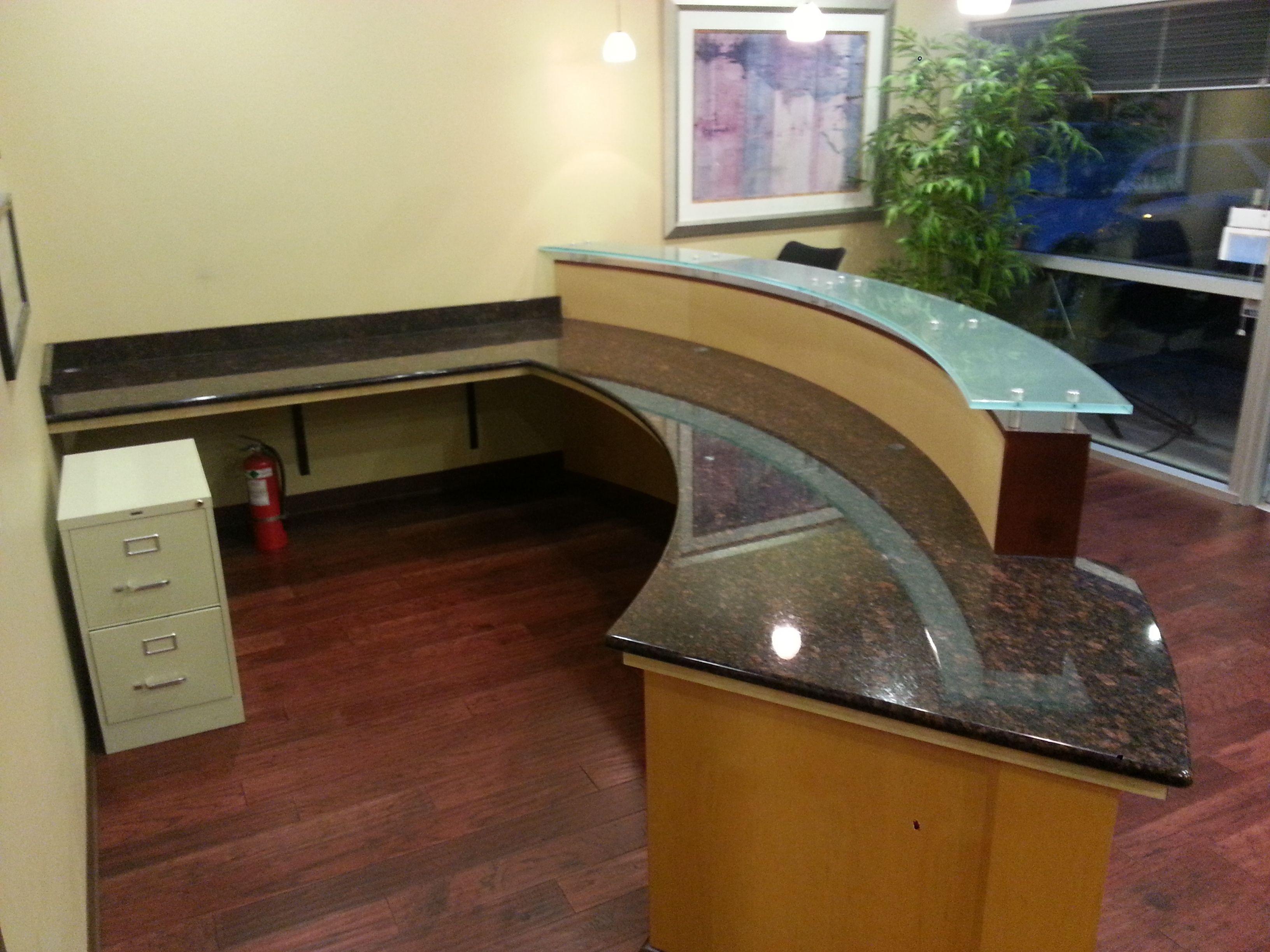 Reception Desk Front Desk Granite Custom Granite Countertops