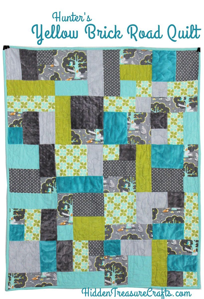Hunter's Yellow Brick Road Quilt | Hidden Treasure Crafts and ... : road quilt pattern - Adamdwight.com