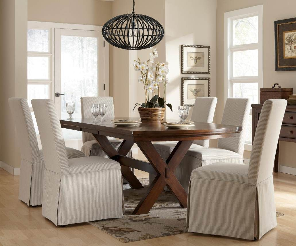 Fancy Slipcovers For Dining Room Chairs With Additional Home Design Ideas