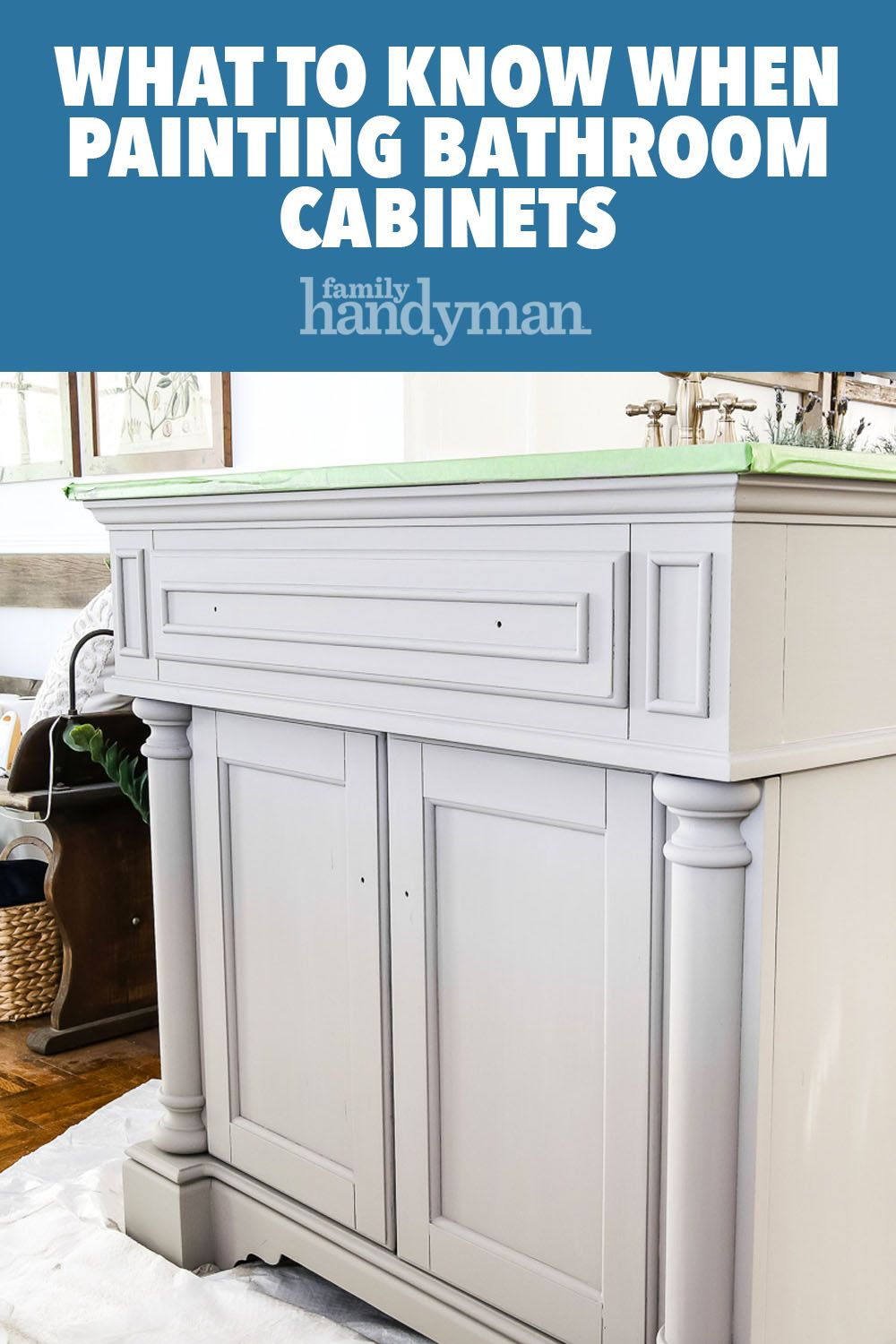 What to Know When Painting Bathroom Cabinets | Painting ...