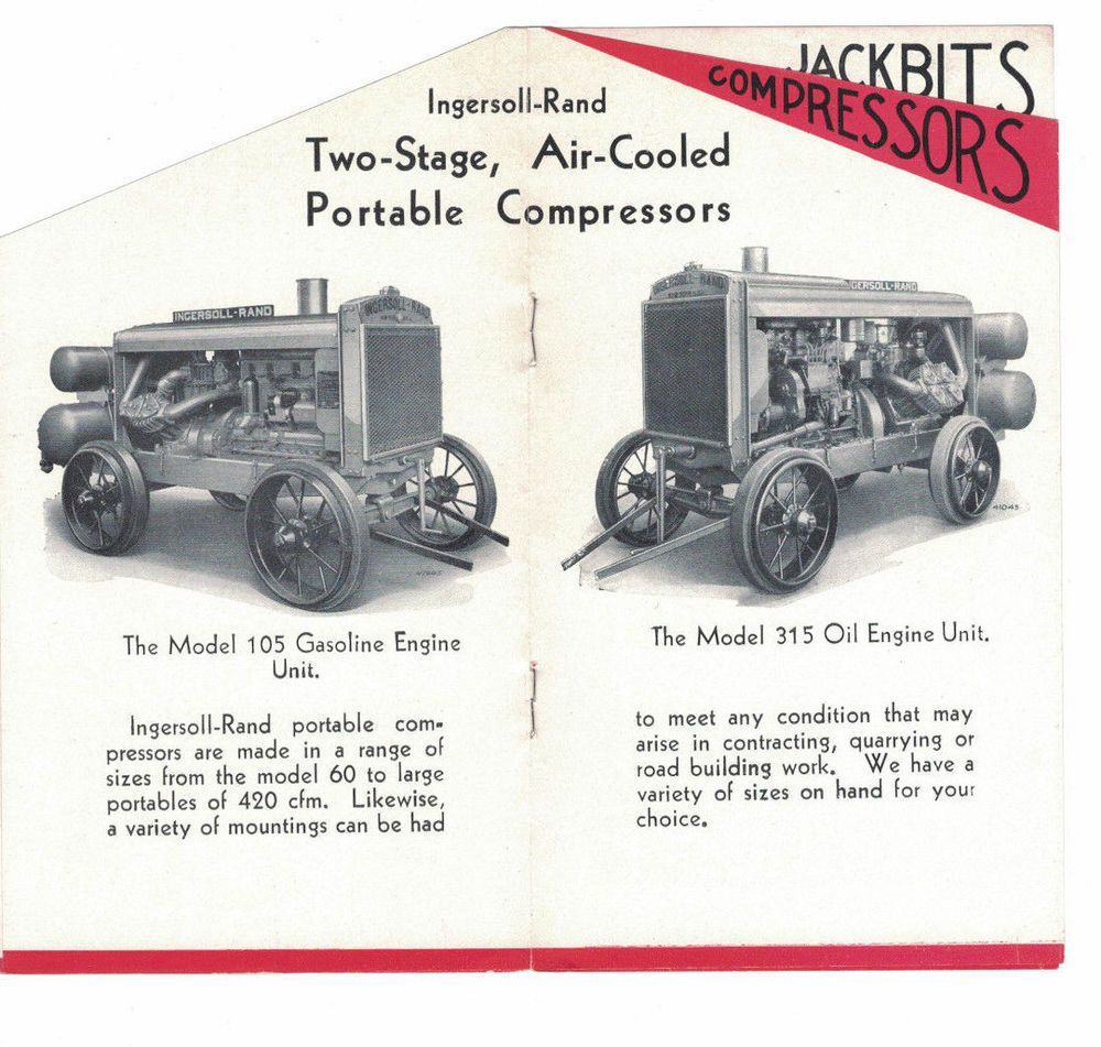 Vintage 1920s Sales Rental Brochure Machinery Ingersoll