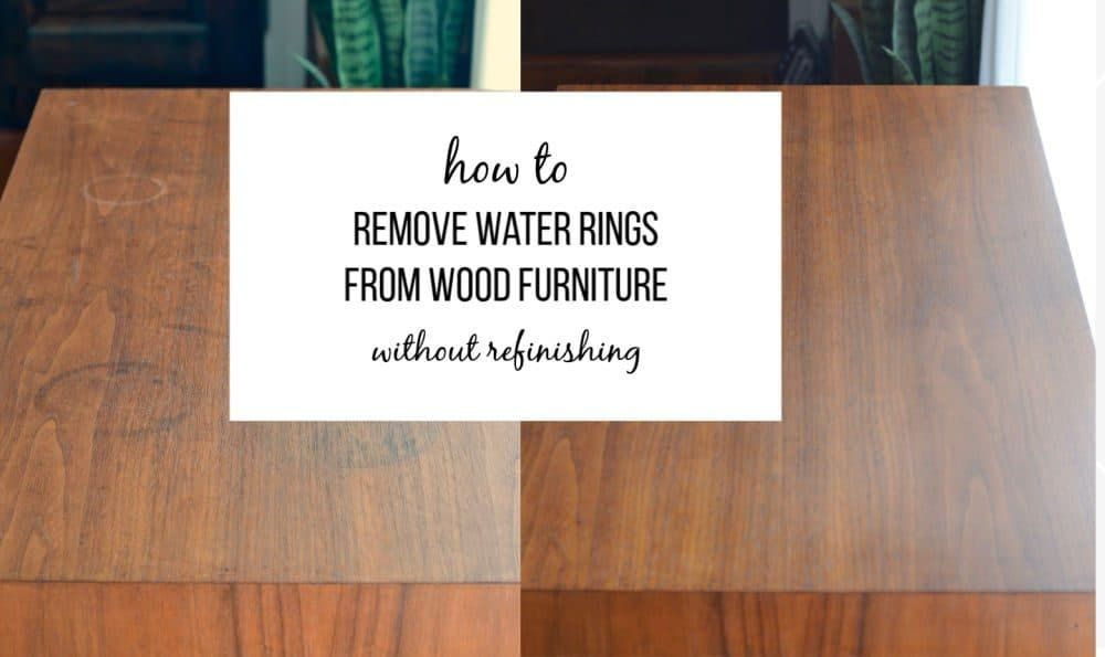 Cleaning S, How Do You Remove White Water Stains From Wood Furniture