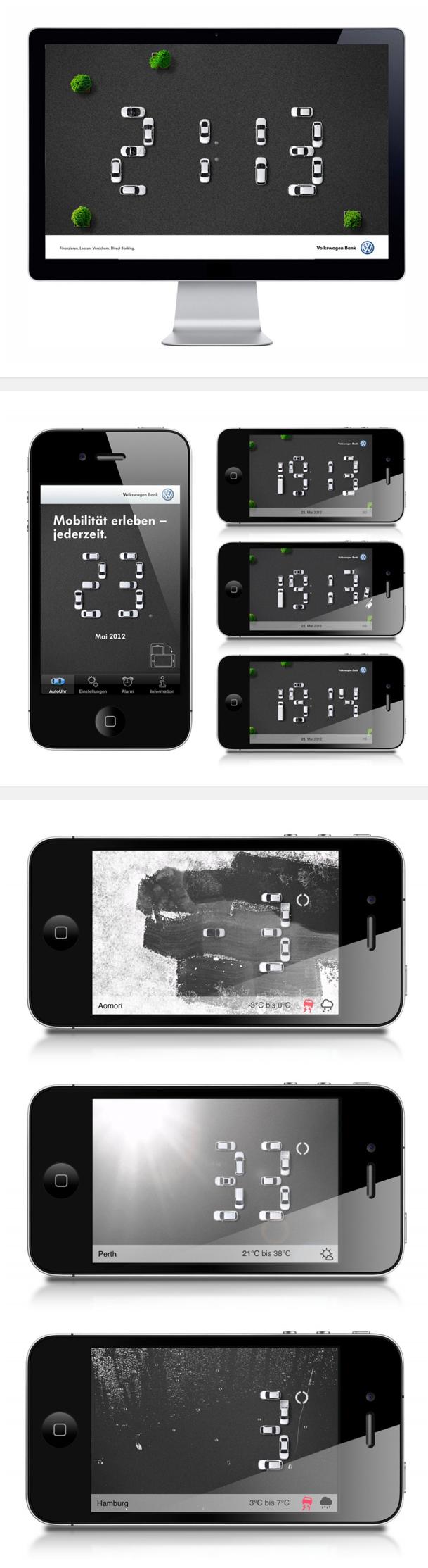 tick. tack. app. volkswagen bank kalender. screensaver | websites