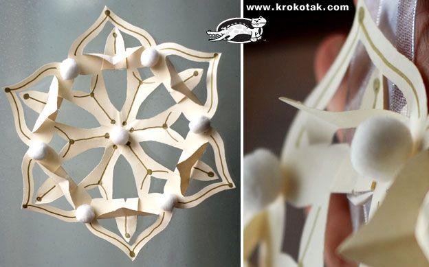 Paper snowflake (reproduction du motif ??? pas si simple...)