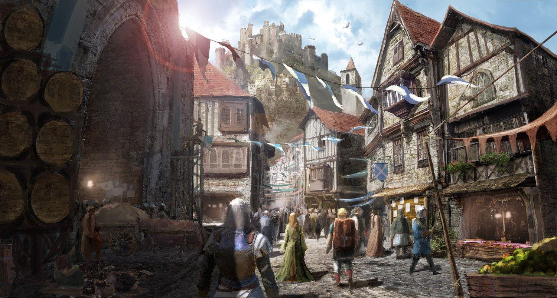 Medieval Village 2013 Jm Ahn Fantasy Town Fantasy Landscape Fantasy City