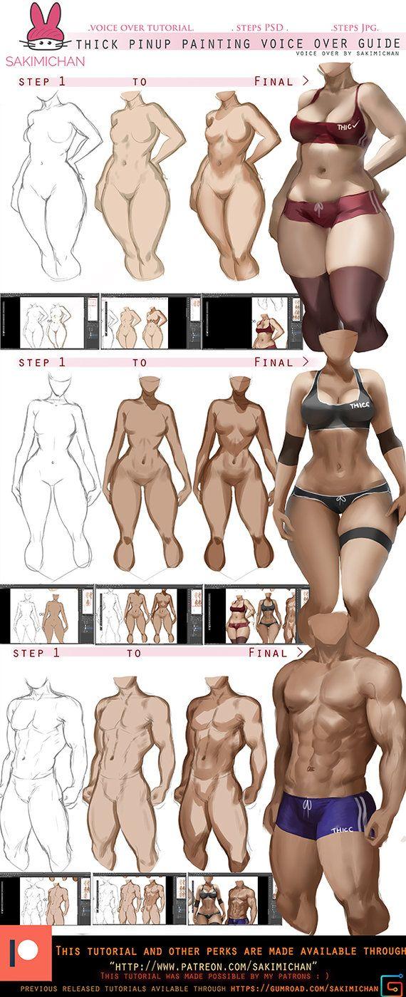 How to: paint thick Pinup voice over tut.promo. by sakimichan ...