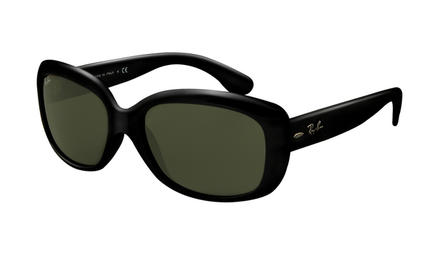 4a84c0ae4cfc9 Ray Ban RB4101 Jackie Ohh Sunglasses Black Frame Crystal Green Lens are so  beautiful