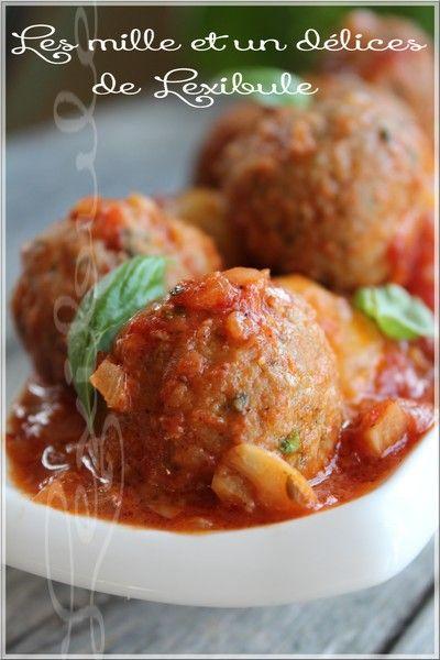 Boulettes de veau, sauce aux tomates braisées~