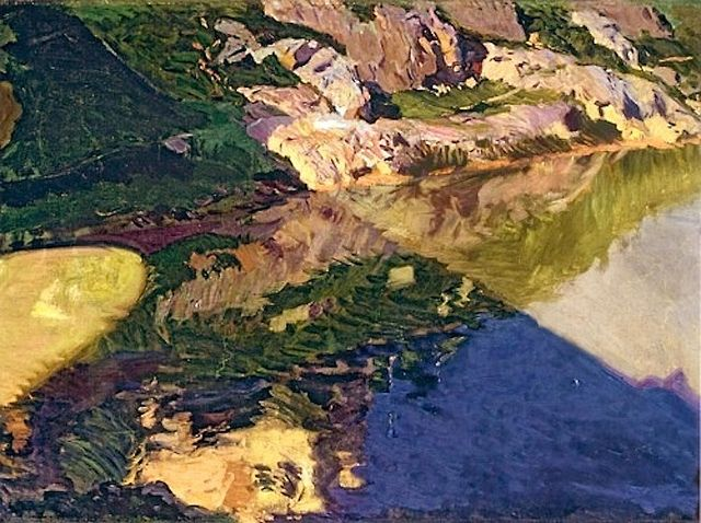 Joaquín Sorolla y Bastida. The Shadow of Alcantara Bridge, Toledo. 1906, via Flickr.