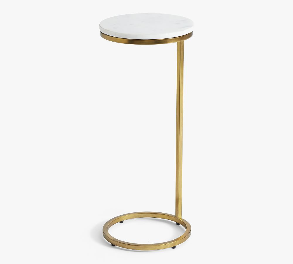 Delaney Round Marble C Table White Marble In 2021 C Table Marble End Tables Round Metal Cocktail Table [ 900 x 1000 Pixel ]