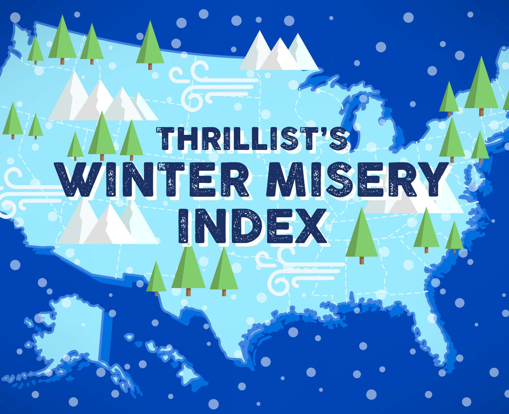 The winters of all 50 states rated for misery - North Carolina fares well as no 38 (1 is worst) ... Few states have a mountain range that acts like a shield preventing strikes of shitty Midwestern winter weather. North Carolina is one of those lucky states, giving it a relatively mild and tame winter for its placement up the coast. ... Virginia is 32, Connecticut is 19