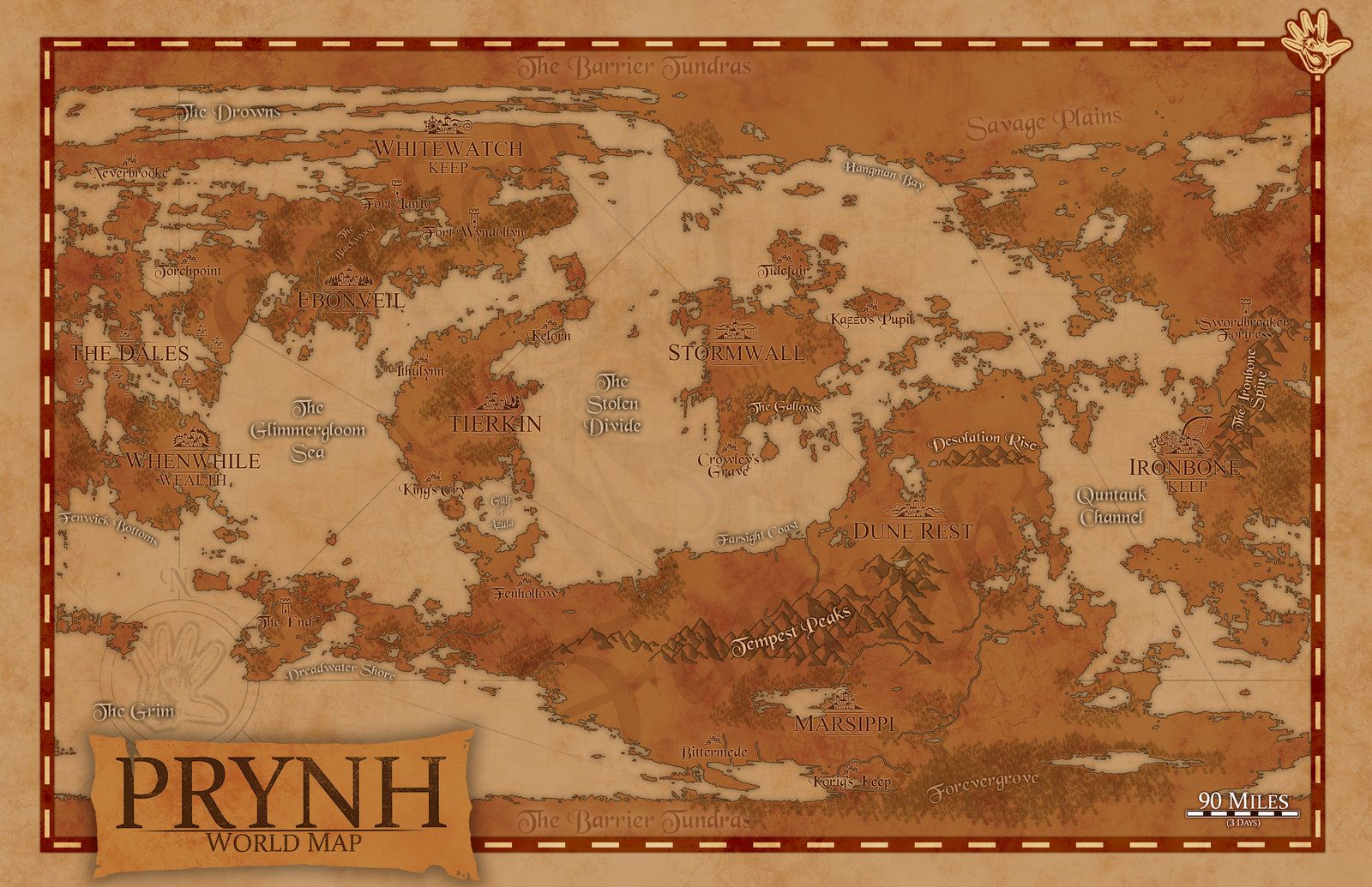 Fantasy world of prynh world map by echdesignsiantart on fantasy world of prynh world map gumiabroncs Image collections