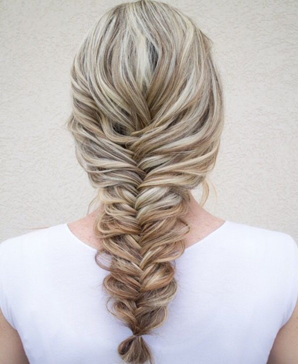 Beautiful Big fishtail braid In 2018 - Fresh herringbone braid For Your Home