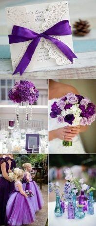 Black White And Purple Wedding Invitations