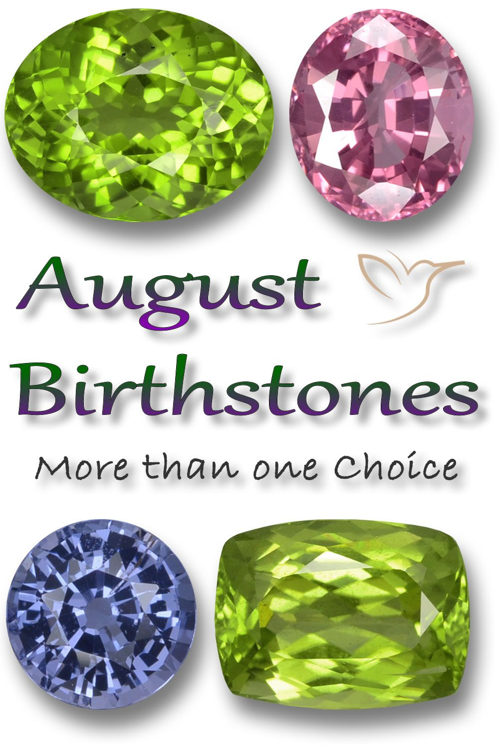 August Birthstone What Are The Three Birthstones For August In 2020 August Birth Stone Birthstones Peridot Birthstone
