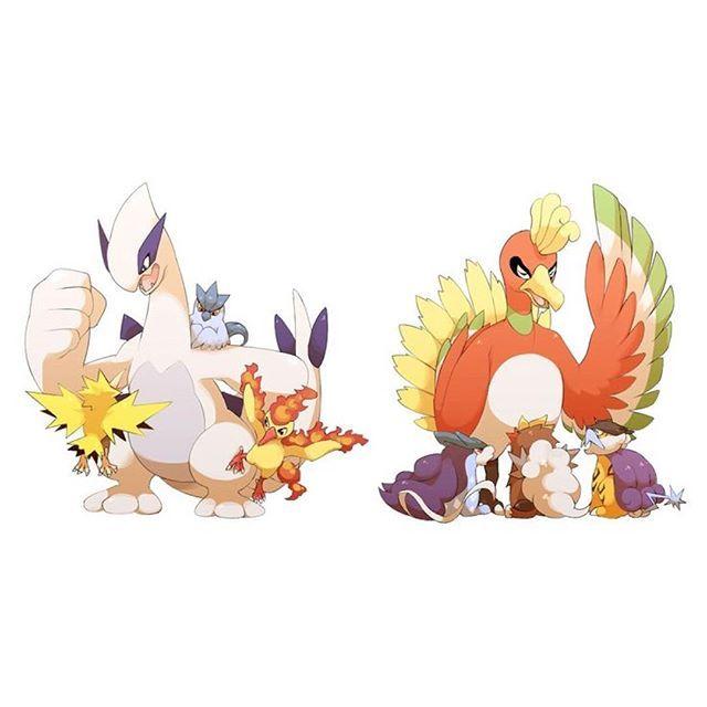 Chibi legendaries! #pokemon #japan #anime #art #johto   pokemon ...