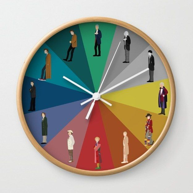 This colorful wall clock with the 12 most important people on it. | 22 Doctor Who Products Only A Real Fan Will Appreciate