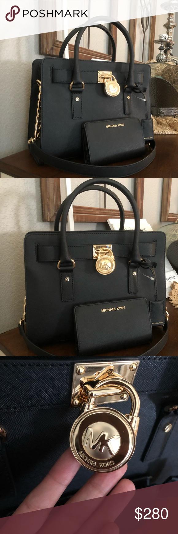 dab6f476c2ca ♥️New mk Set Bag and walket Michael Kors Hamilton Medium Lock and Key (New