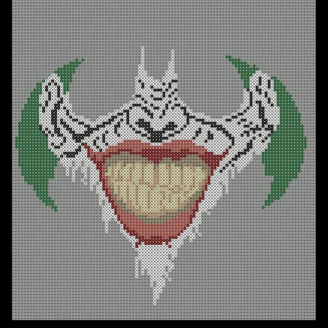 Joker Smile In Batman Logo Joker Batman Batmanlogo Perler