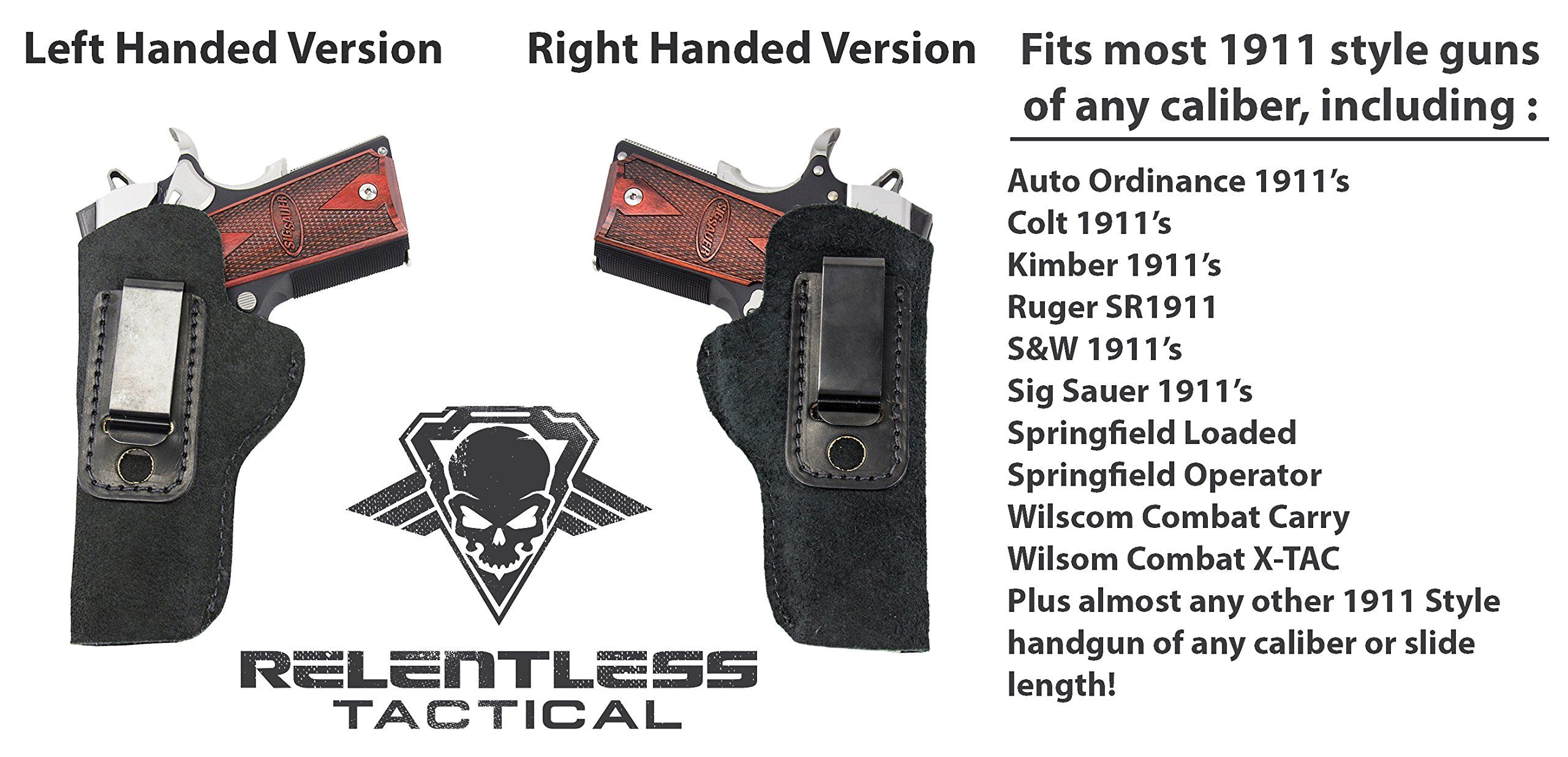 The Ultimate Suede Leather IWB Holster Right Handed Made in