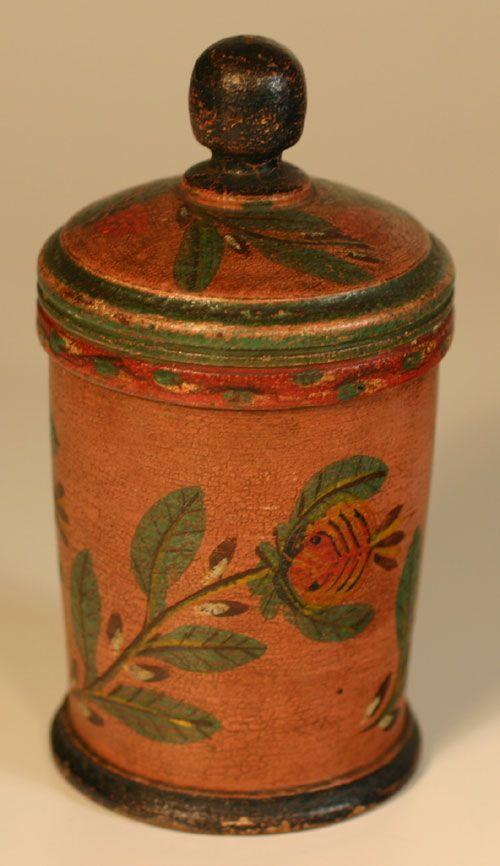 Lehnware Straight Sided Saffron Box Joseph Lehn Elizabeth