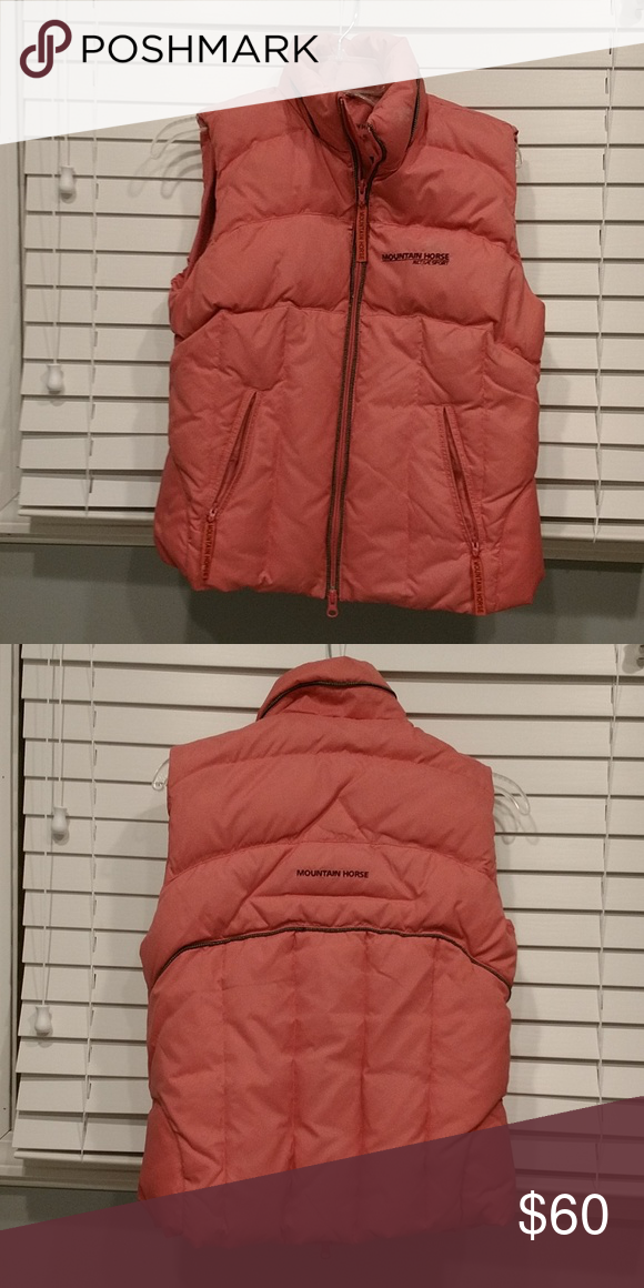 ed0425721 Mountain Horse vest Mountain Horse puffer vest. Pink and black ...