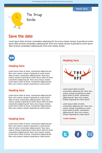 Dating newsletter template