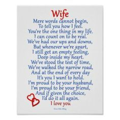 anniversary poems for husband from wife | Anniversary Poem Posters ...