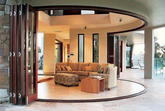 Centor Folding System In Semi Circle Folding Doors Interior Folding Patio Doors Doors Interior