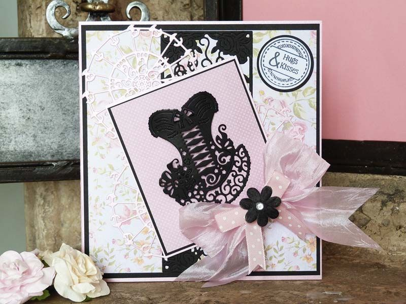 Corset Wedding Dress Cutting Die Embossing Stencil Scrapbook DIY Paper Card