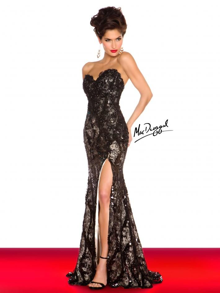 Black White Red by Mac Duggal Style 76414R now in stock at Bri\'Zan ...
