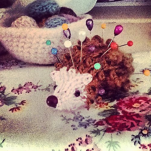 free knitting pattern -  Spiky the Hedgehog pattern by Claire Garland
