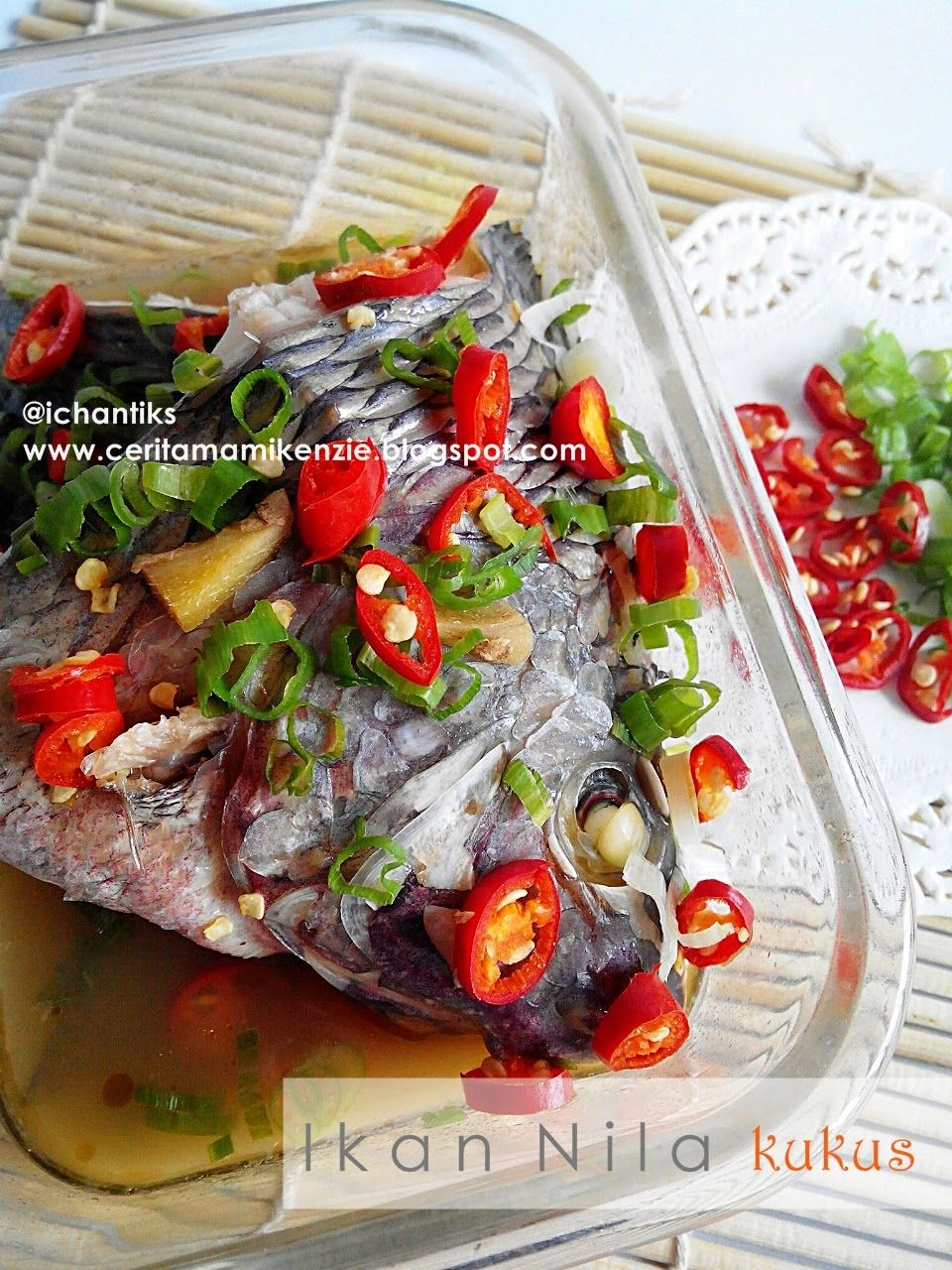 Resep Ikan Nila : resep, Resep, Kukus, Cerita, Kenzie, Ikan,, Resep,, Masakan